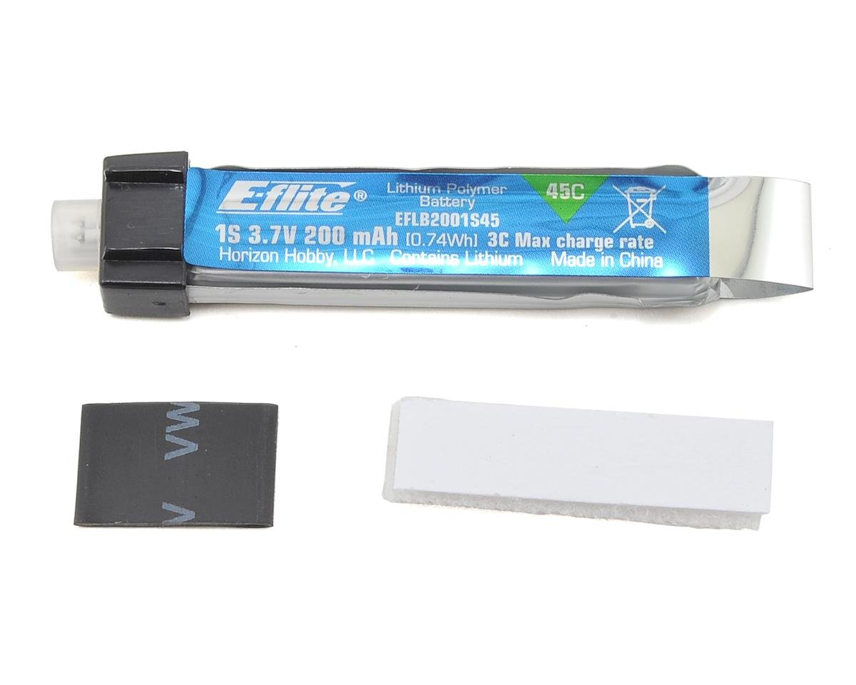 E-flite 1S LiPo Battery 45C (3.7V/200mAh) (ParkZone Ultra Micro Pole Cat)