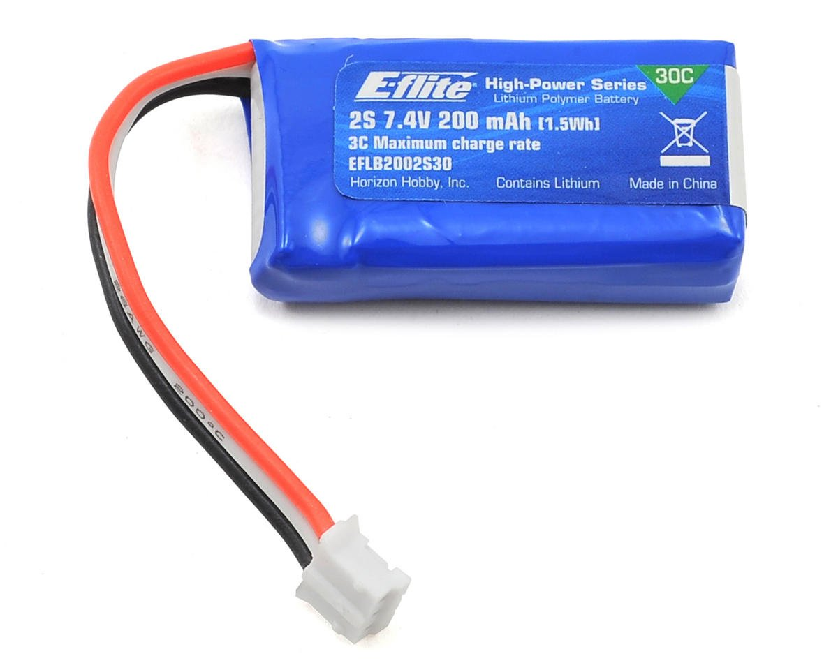 E-flite 2S LiPo Battery Pack 30C (7.4V/200mAh)