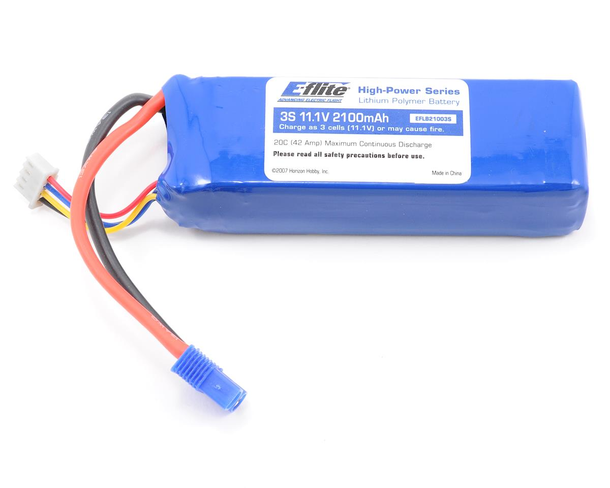 E-flite 3S Li-Poly Battery Pack 20C (11.1V/2100mAh)