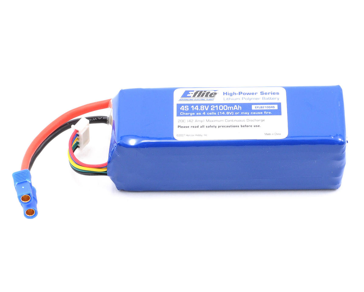 E-flite 4S Li-Poly Battery Pack 20C (14.8V/2100mAh)