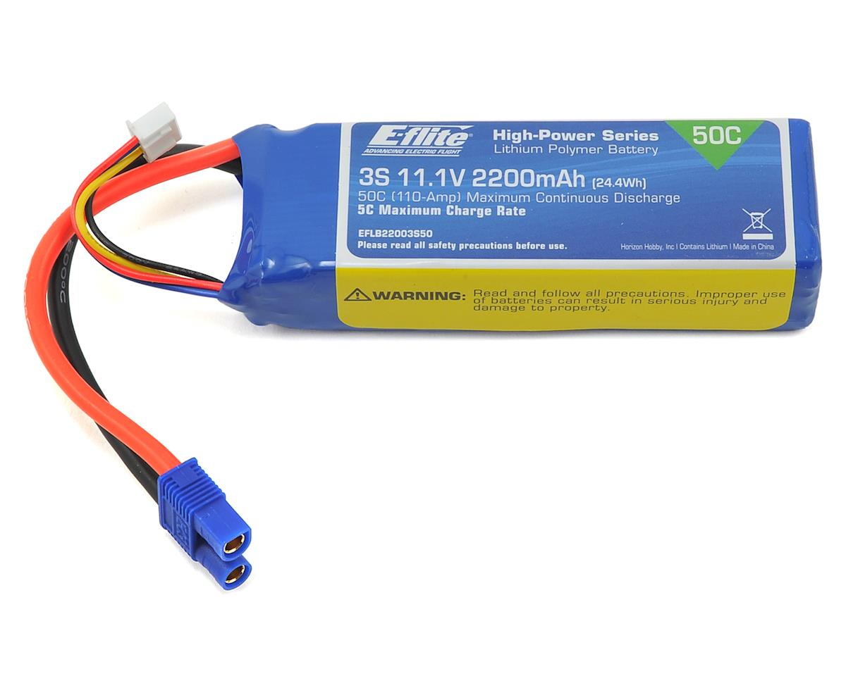 3S LiPo Battery Pack 50C (11.1V/2200mAh) by E-flite