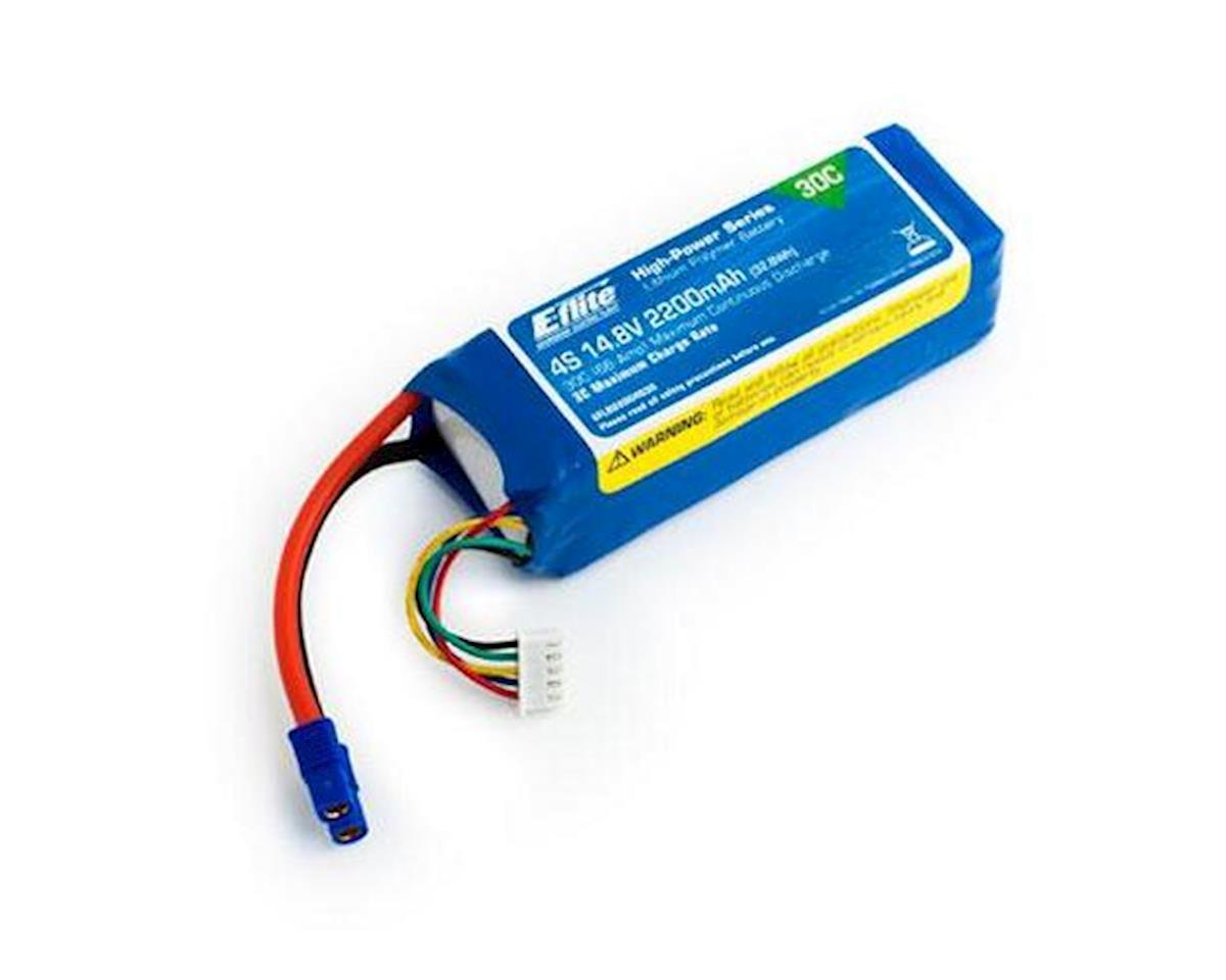 E-flite 4S LiPo Battery 30C (14.8V/2200mah) w/EC3 Connector