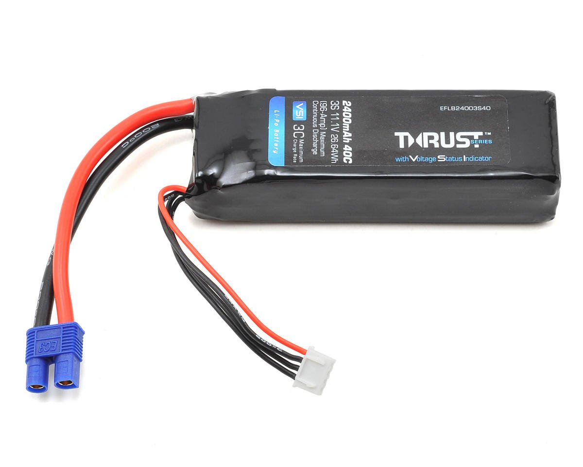 Thrust VSI 3S LiPo 40C Battery Pack (11.1V/2400mAh) (EC3) by E-flite