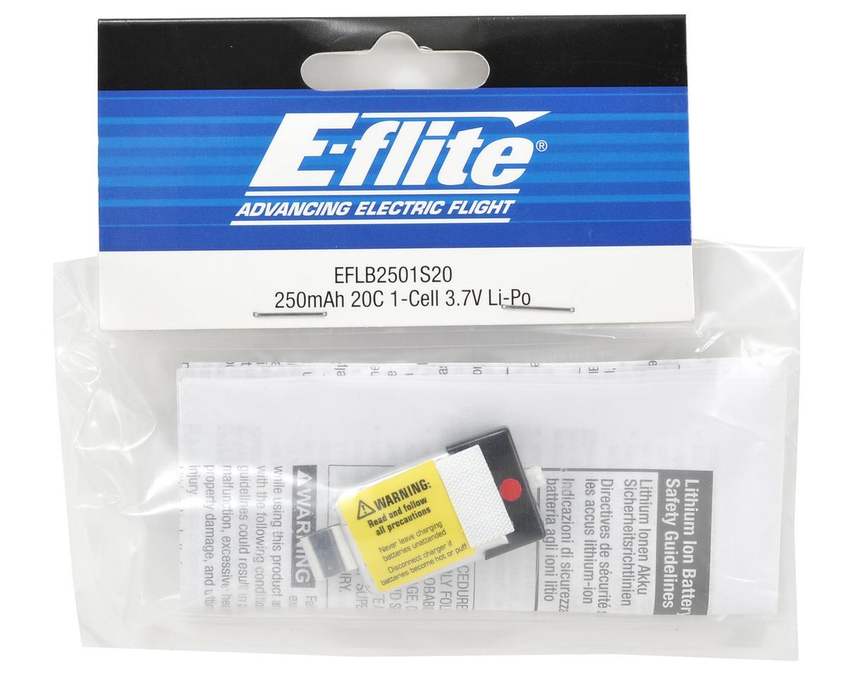 1S LiPo Battery Pack 20C (3.7V/250mAh) by E-flite