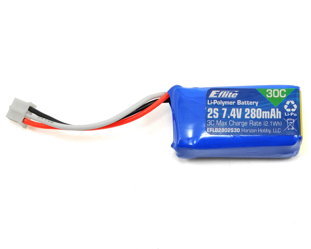 2S LiPo Battery Pack 30C (7.4V/280mAh) by E-flite