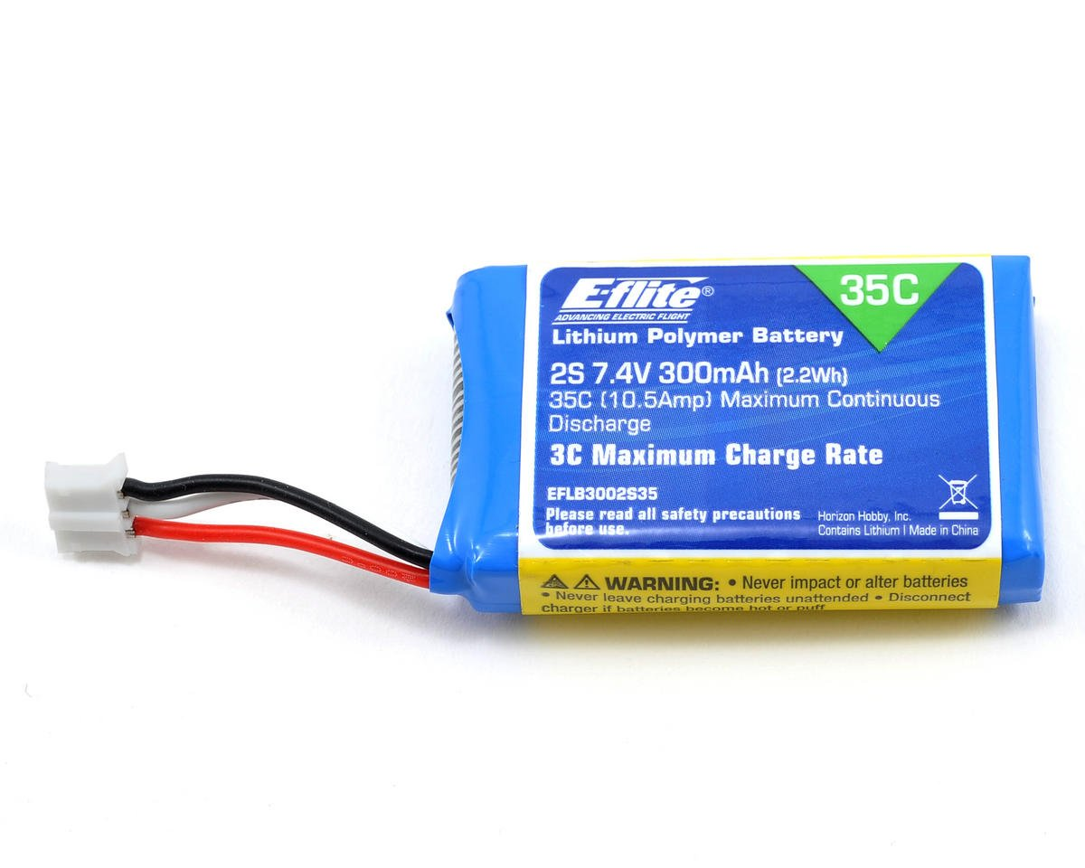 E-flite 2S LiPo Battery Pack 35C (7.4V/300mAh)