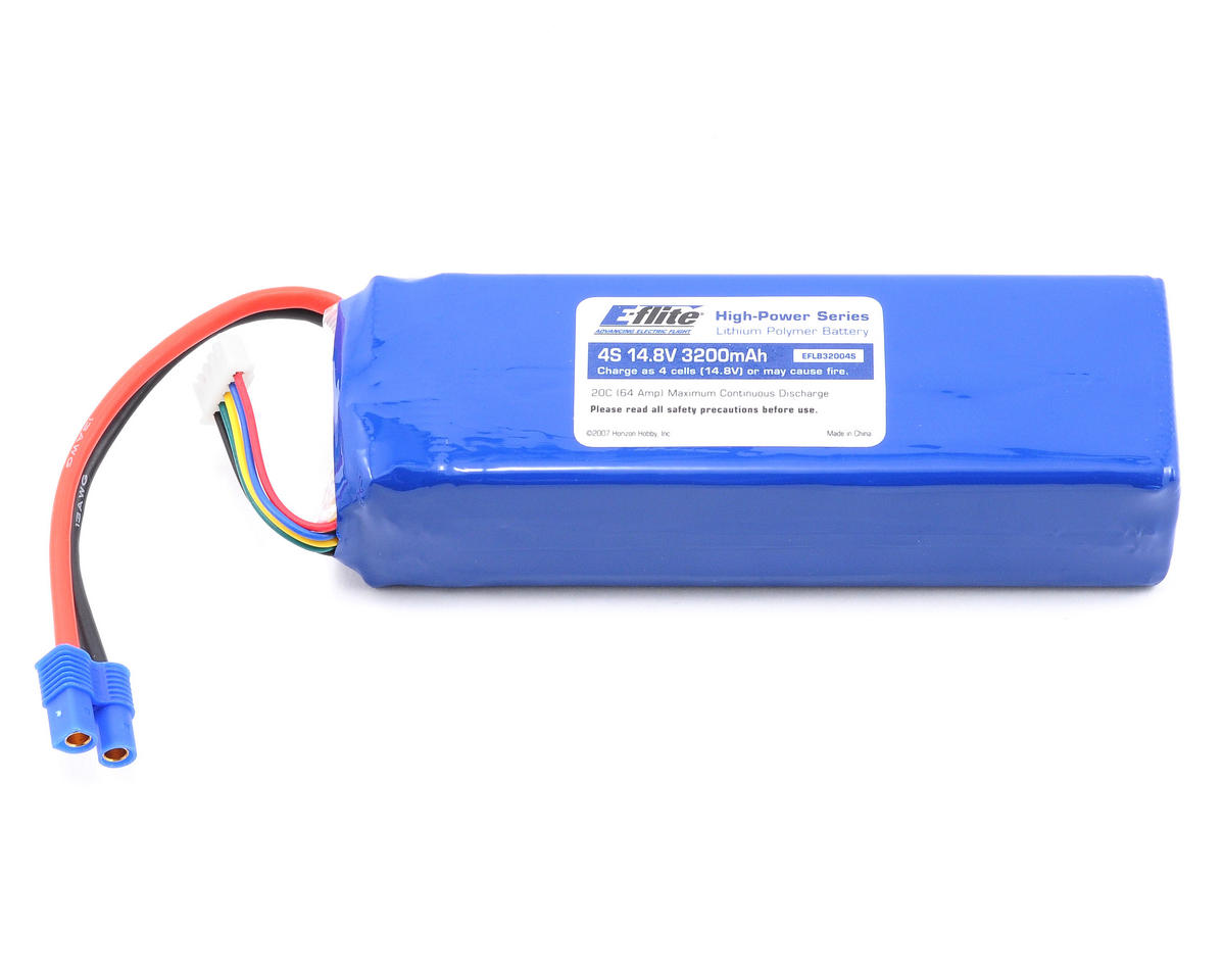 E-flite 4S Li-Poly Battery Pack 20C (14.8V/3200mAh)