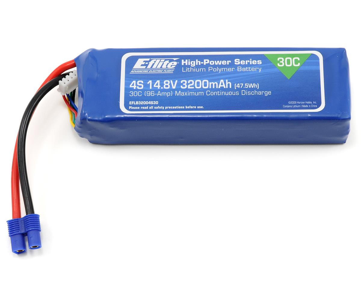 4S LiPo Battery Pack 30C (14.8V/3200mah) by E-flite