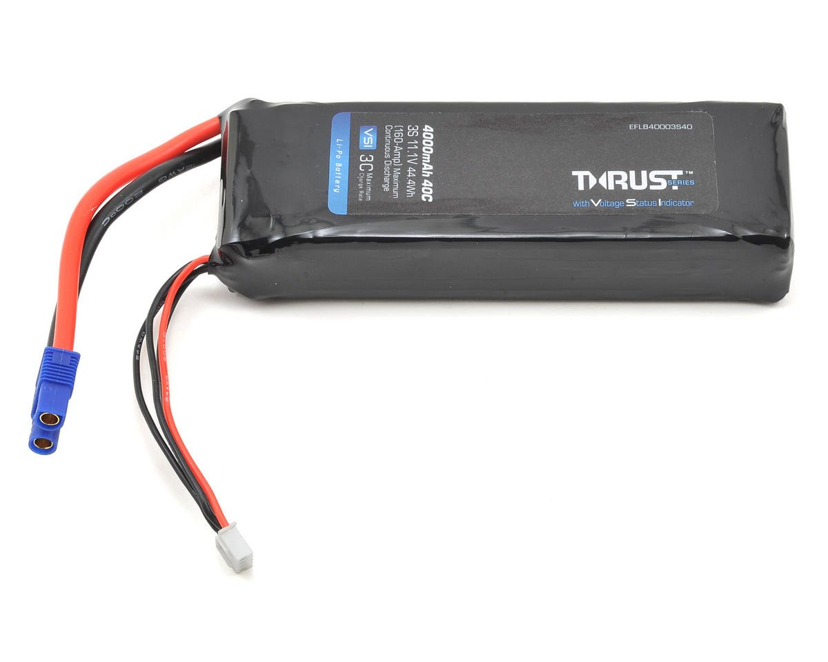 E-flite Thrust VSI 3S 40C LiPo Battery Pack (11.1V/4000mAh) (EC3)