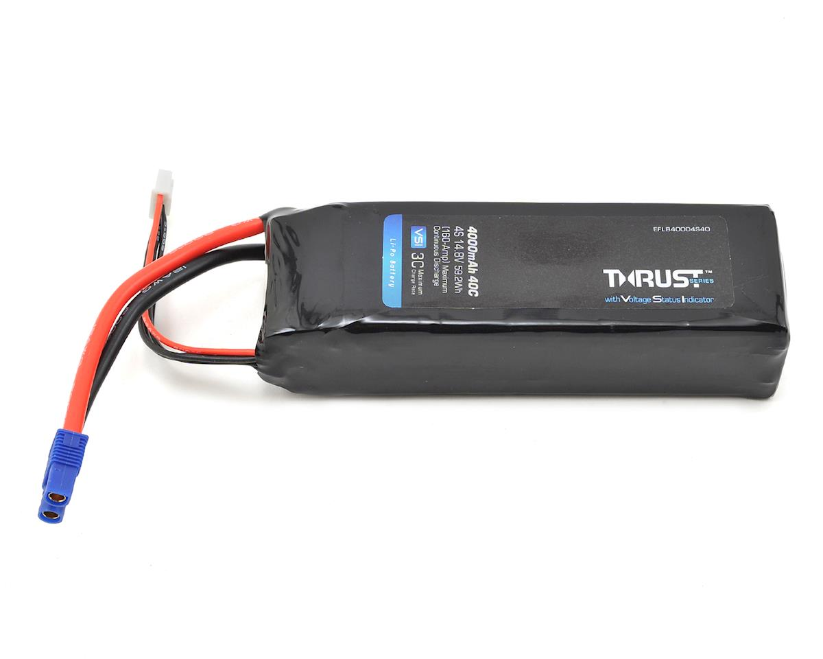 Thrust VSI 4S LiPo 40C Battery Pack (14.8V/4000mAh) (EC3) by E-flite