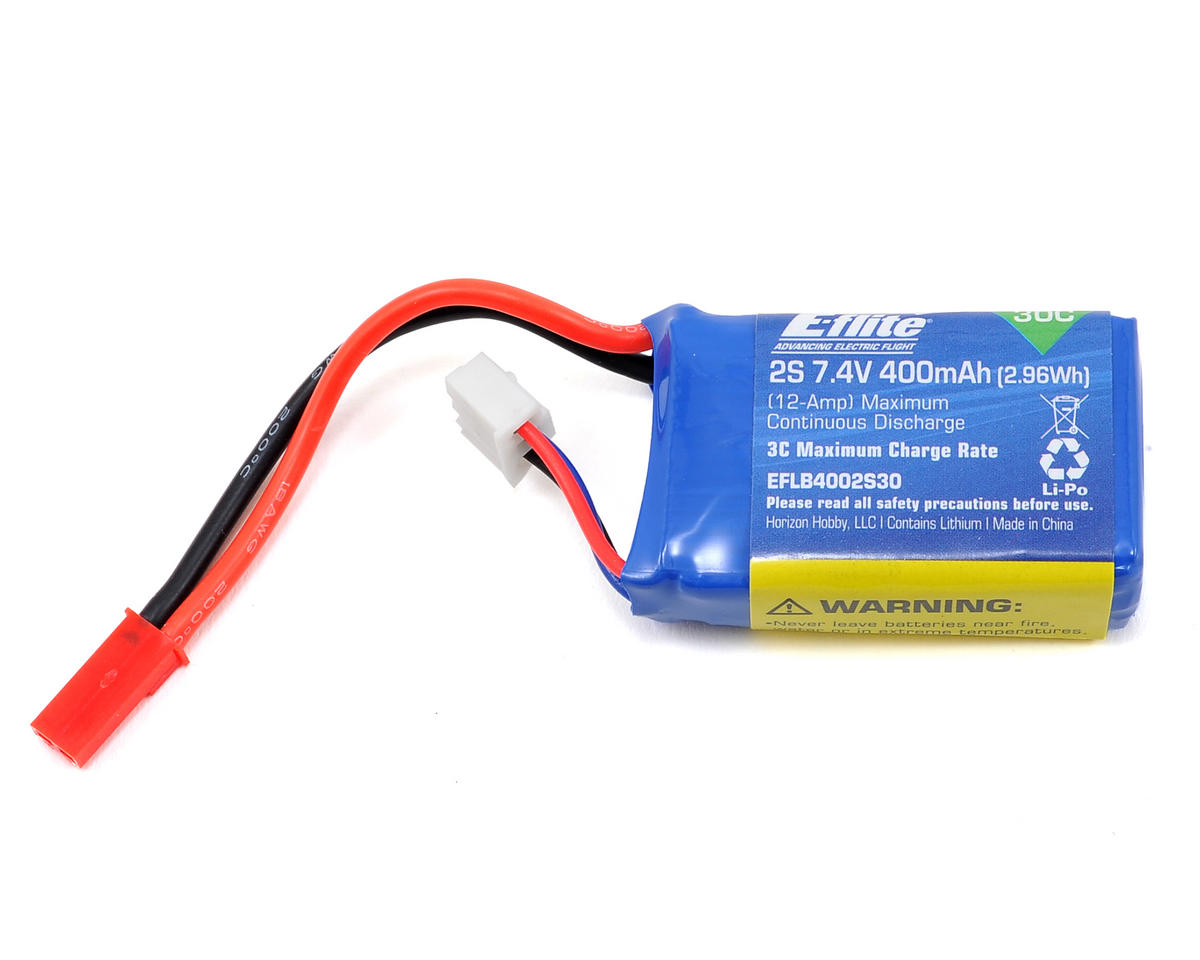 2s LiPo Battery Pack 30C (7.4V/400mAh) by E-flite