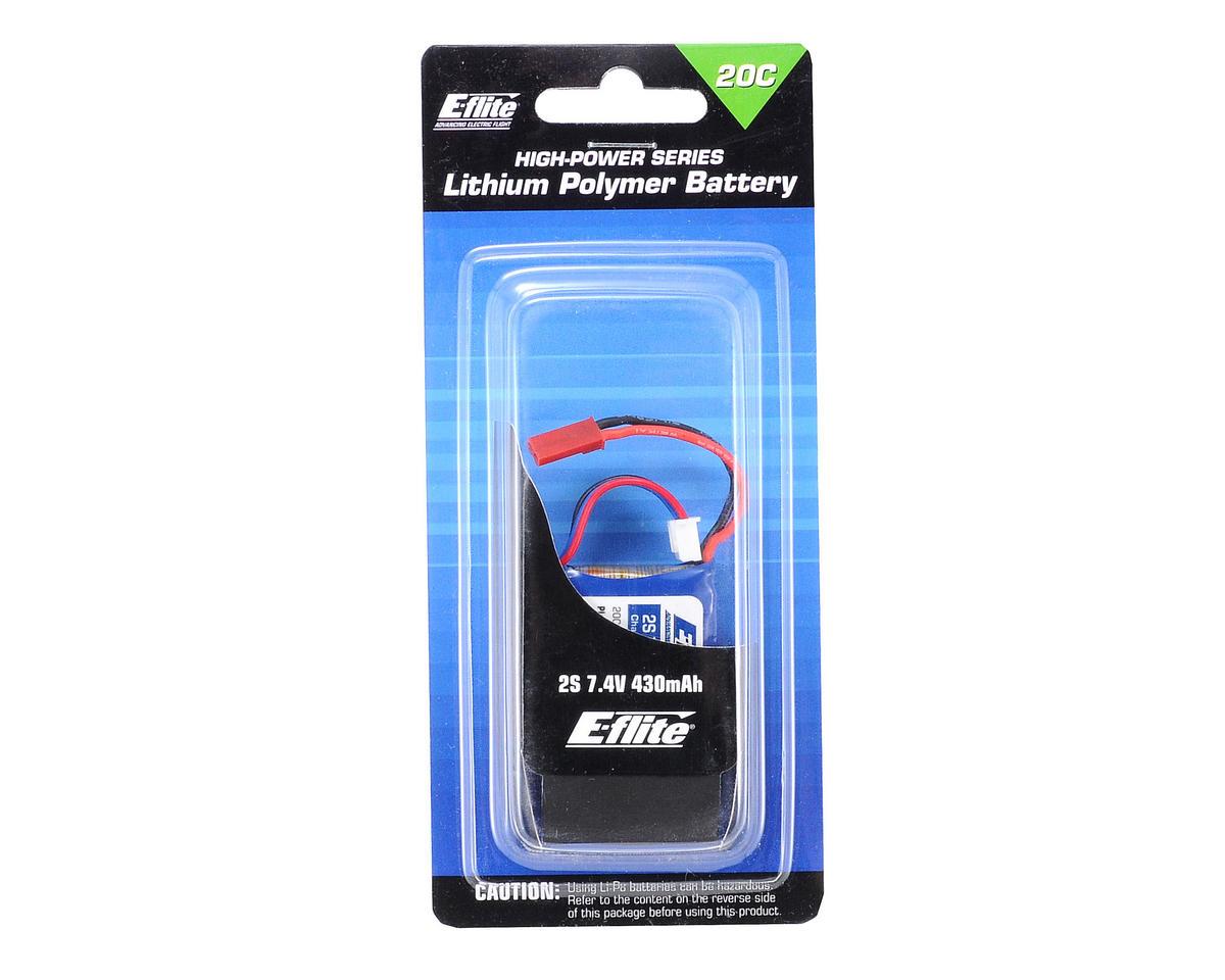 E-flite 2S LiPo Battery Pack 20C (7.4V/430mAh) (JST)