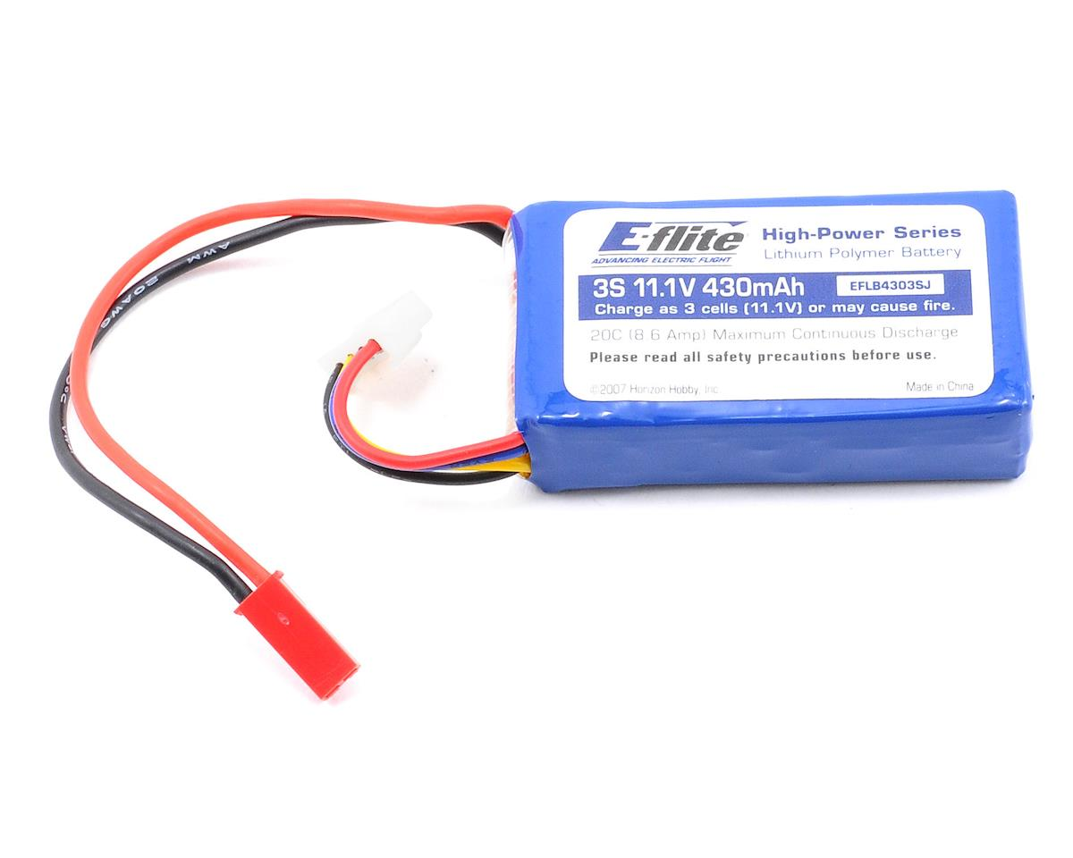 E-flite 3S Li-Poly Battery Pack 20C (11.1V/430mAh) (JST)