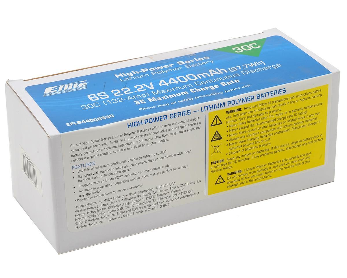 E-flite 6S LiPo Battery 30C w/EC5 (22.2V/4400mAh)
