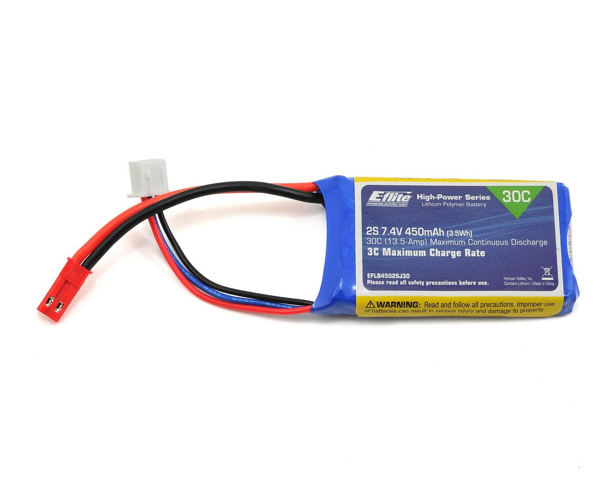E-flite 2S LiPo Battery Pack 30C (7.4V/450mAh)