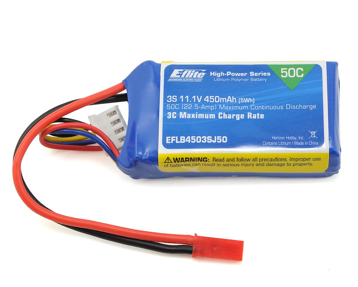 450mAh 3S 11.1V 50C LiPo w/JST Connector by E-flite