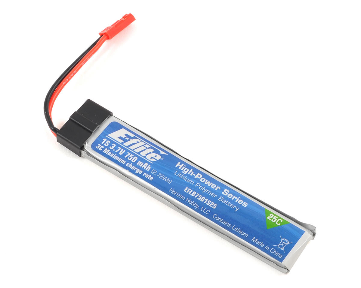 1S Li-Po 25C Battery Pack (3.7V/750mAh) by E-flite