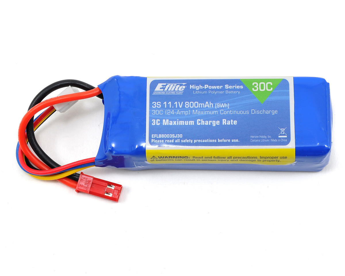 3S LiPo Battery Pack 30C (11.1V/800mAh) by E-flite