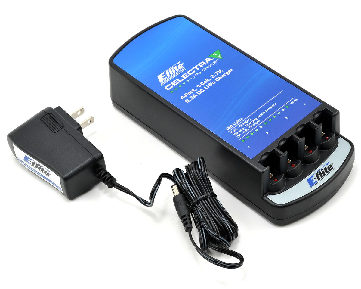 E-flite Celectra 4-Port Charger Combo w/AC Adapter