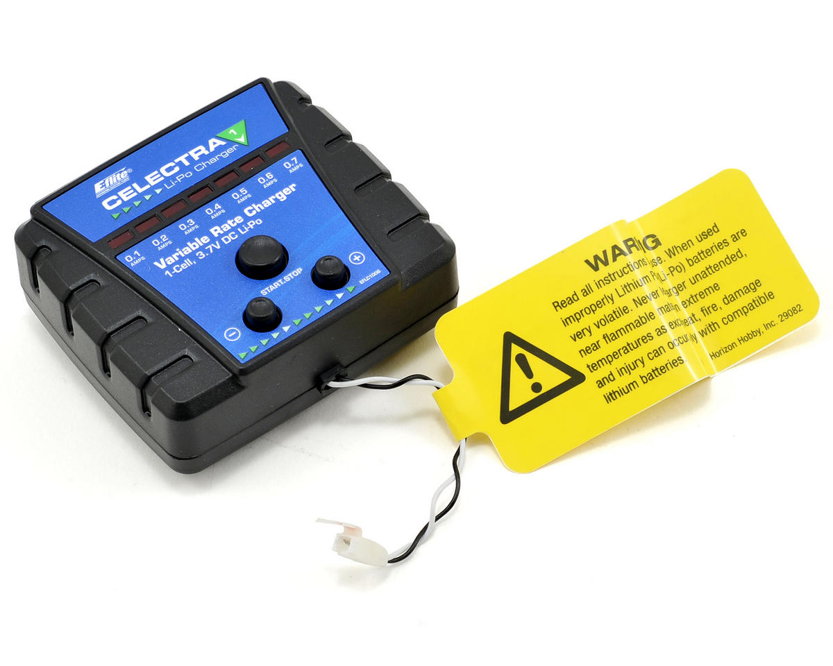 e flite celectra variable rate dc 1 cell lipo charger. Black Bedroom Furniture Sets. Home Design Ideas