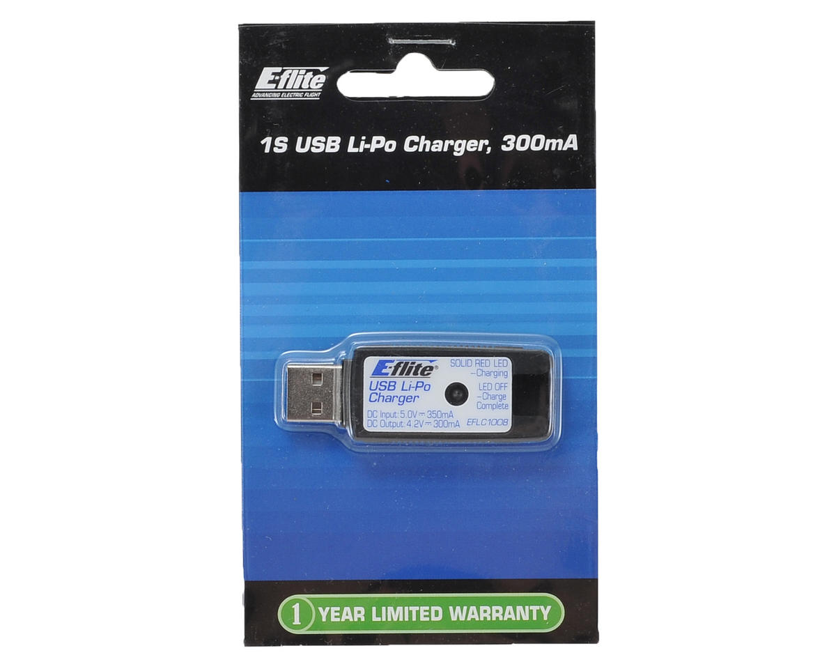 USB LiPo Charger (1S/300mAh) by E-flite