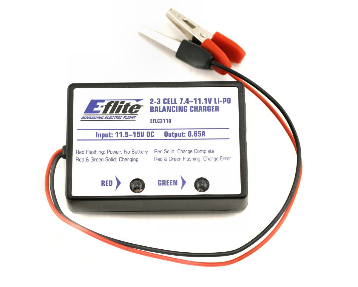 2-3 Cell DC Li-Polymer Balancing Charger 0.65A by E-flite