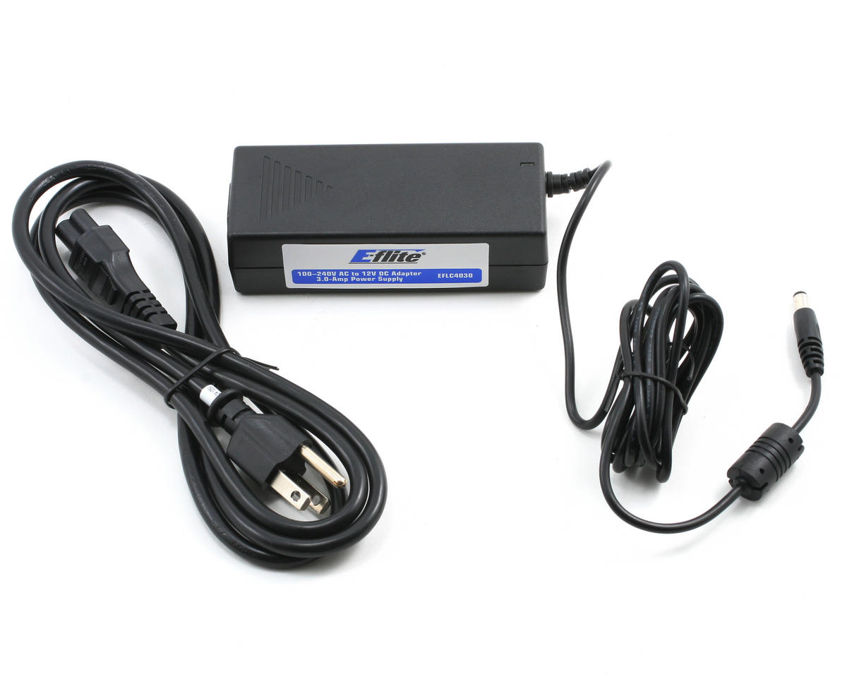E-flite 3.0 Amp Power Supply 100-240V AC 12V DC