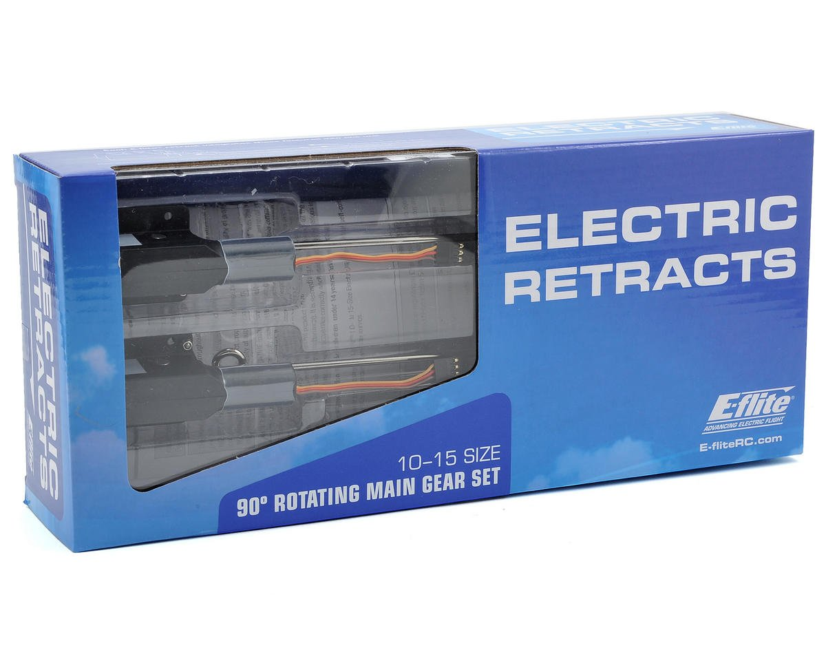 E-flite 10 - 15 Size 90 Degree Rotating Electric Retract Set