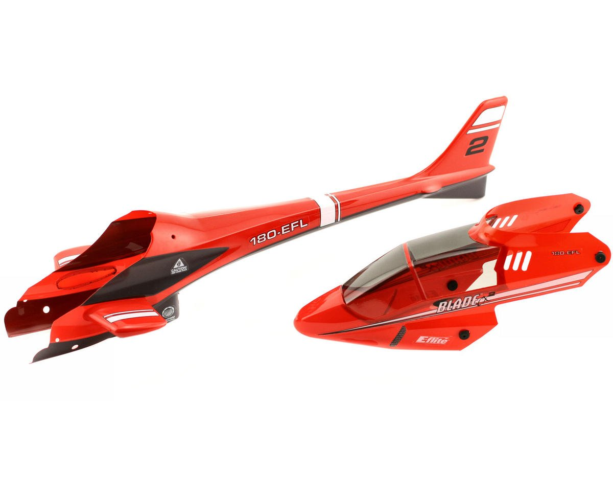 Blade CX/CX2 Helis Complete Body Set (Red) (BCX2)