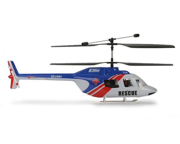Blade Helis Jet Ranger Body Set, (Blue/Red) (BCX/CX2)