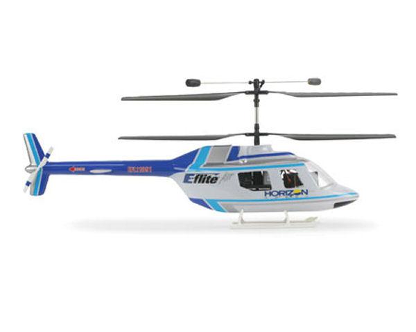 Blade Helis Jet Ranger Body Set, (Blue/Silver) (BCX/CX2)