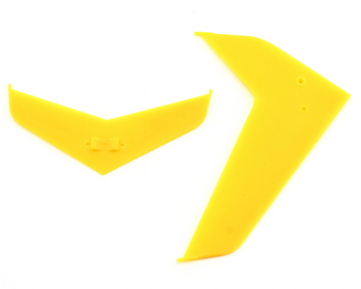 Blade Helis Stabilizer/Fin Set, Yellow (Blade 400)