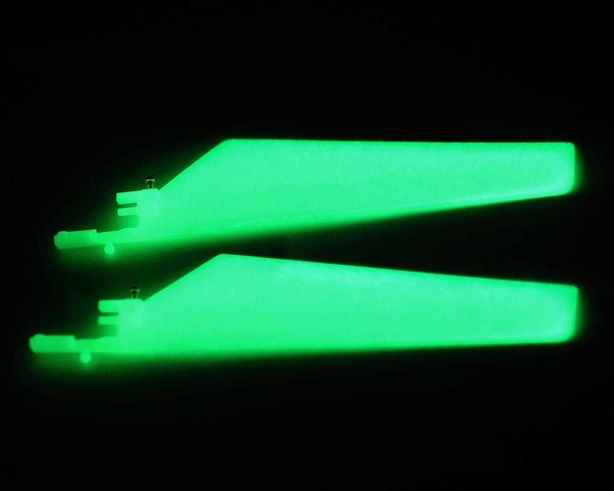 Blade Helis Glow In The Dark Lower Main Blade Set