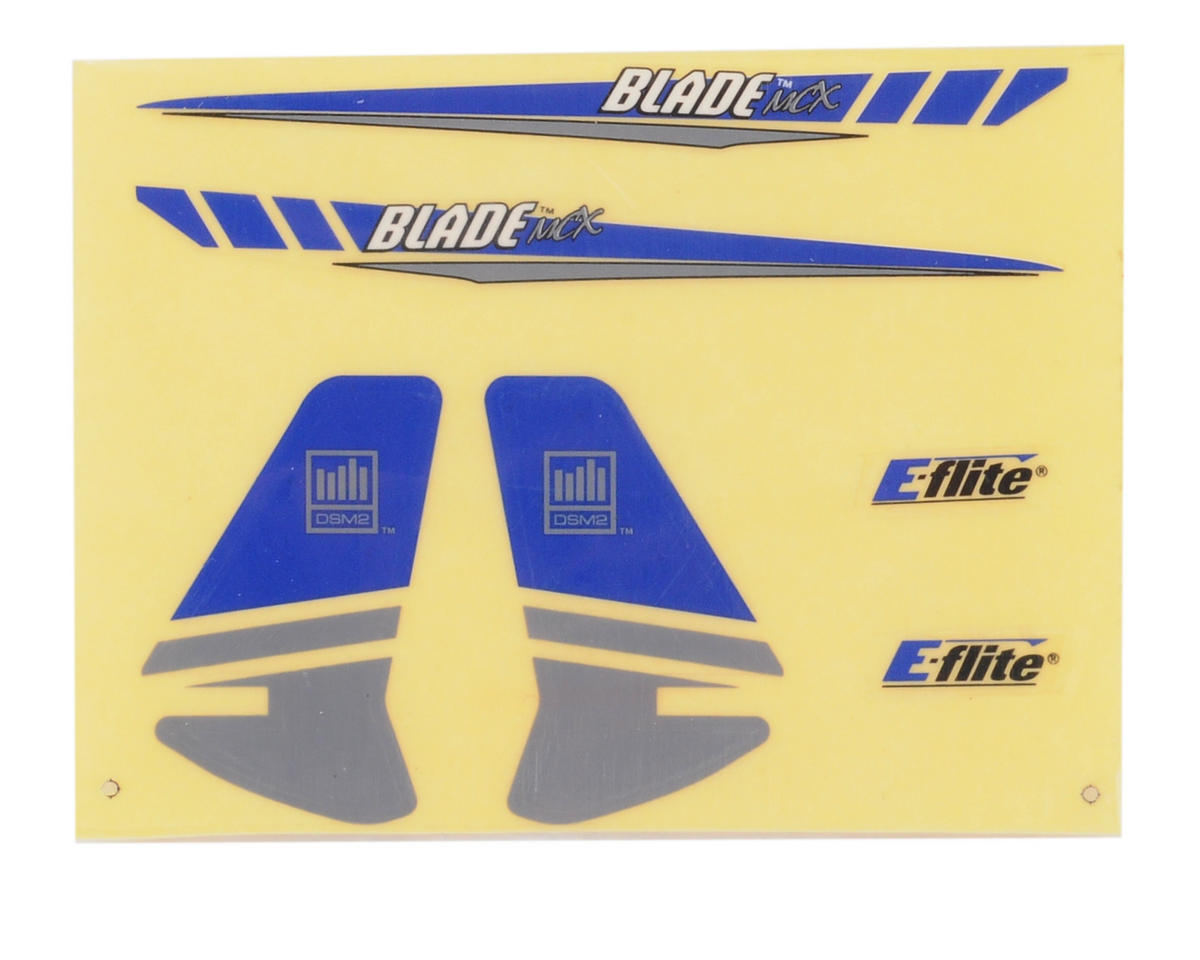 Blade Helis Graphics Decal Sheet (Blue/Silver)