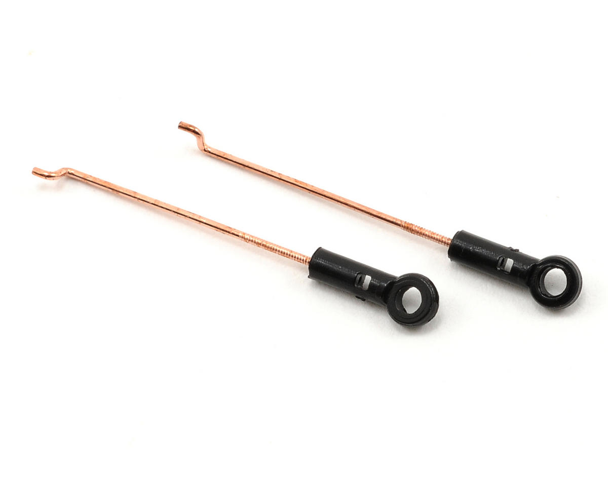 Blade Helis Servo Pushrod Set w/Ball Link (2)