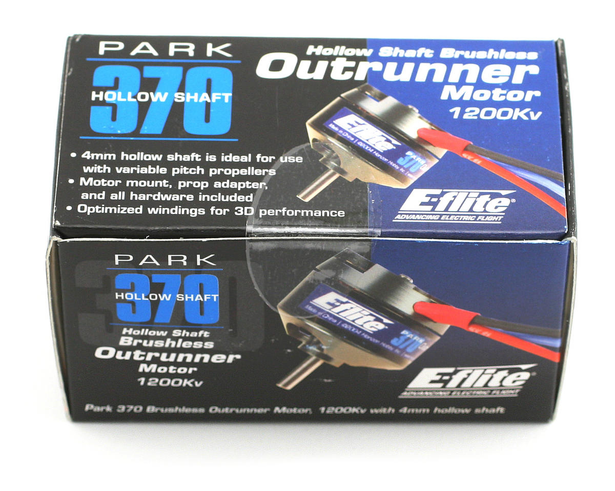 E-flite Park 370 BL Outrunner (1200kV) w/4mm Hollow Shaft