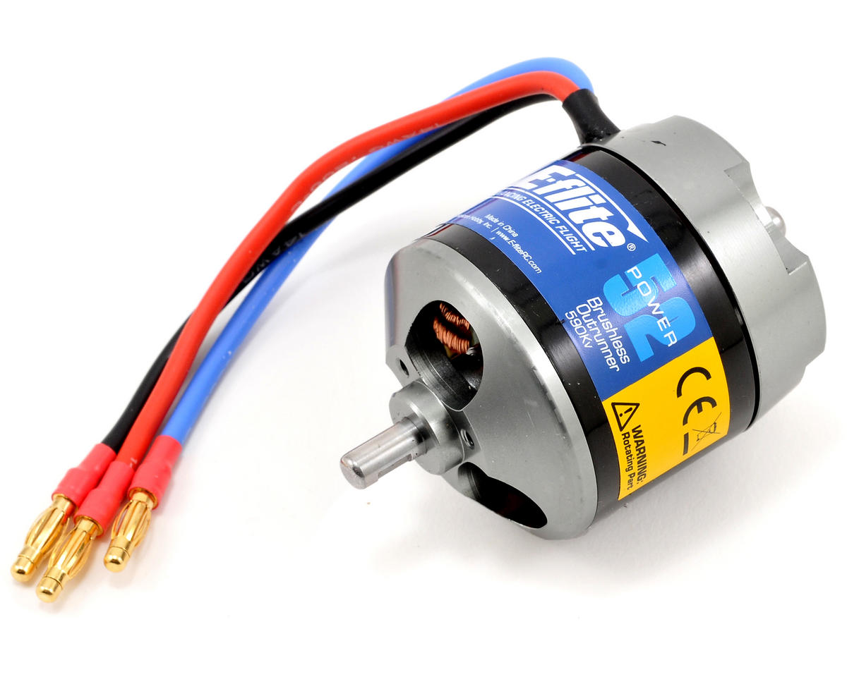 Power 52 Brushless Outrunner Motor (590kV) by E-flite