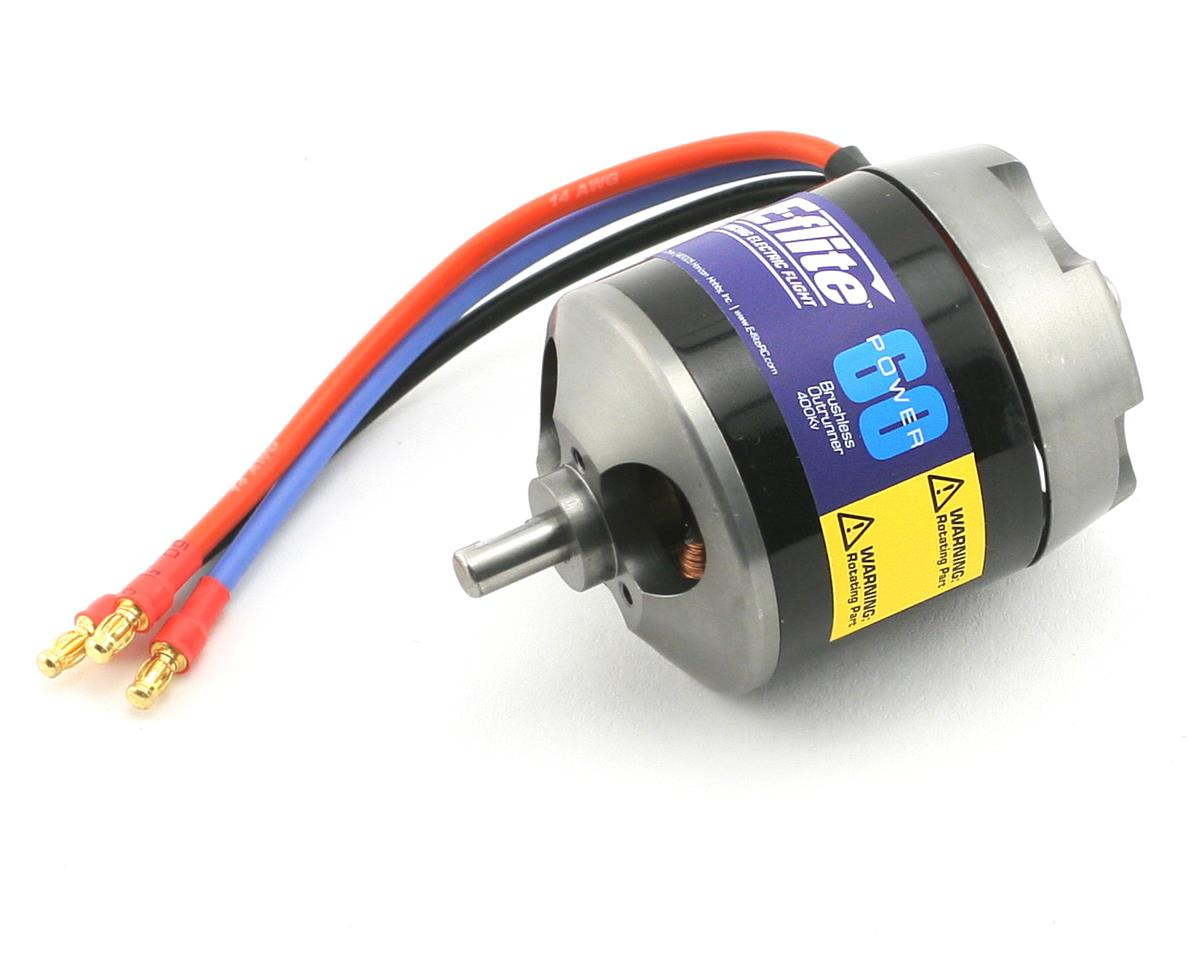 Power 60 Brushless Outrunner Motor (400kV) by E-flite