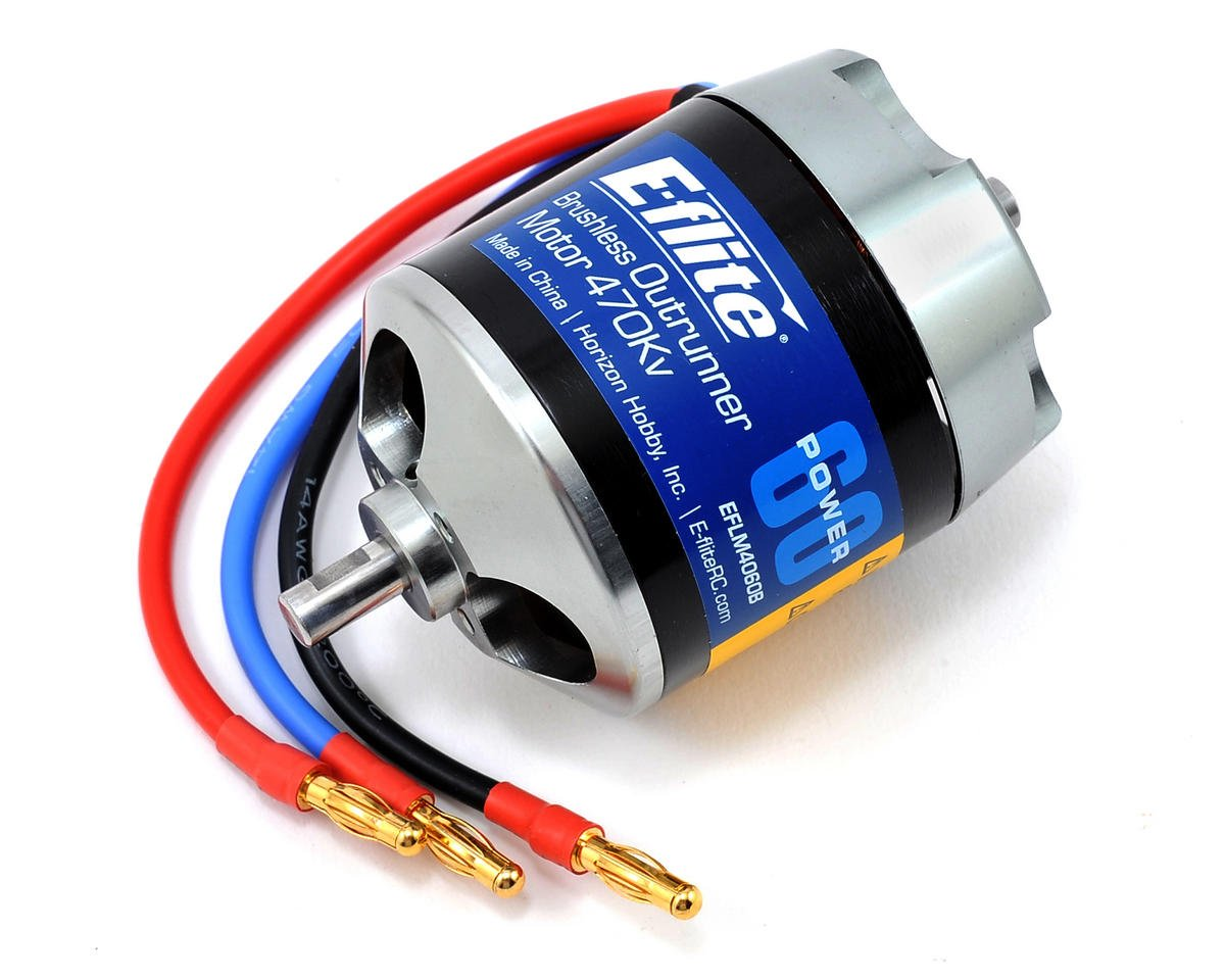 Power 60 Brushless Outrunner Motor (470kV) by E-flite
