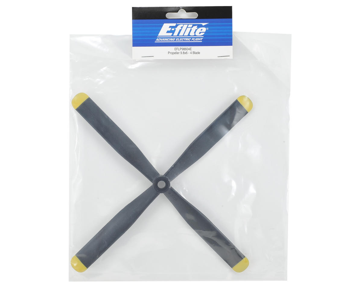 "E-flite 9.8x6"" 4-Blade Propeller"