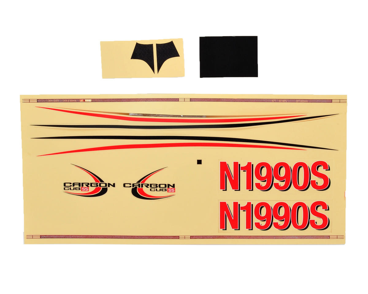 E-flite UMX Carbon Cub SS Decal Sheet