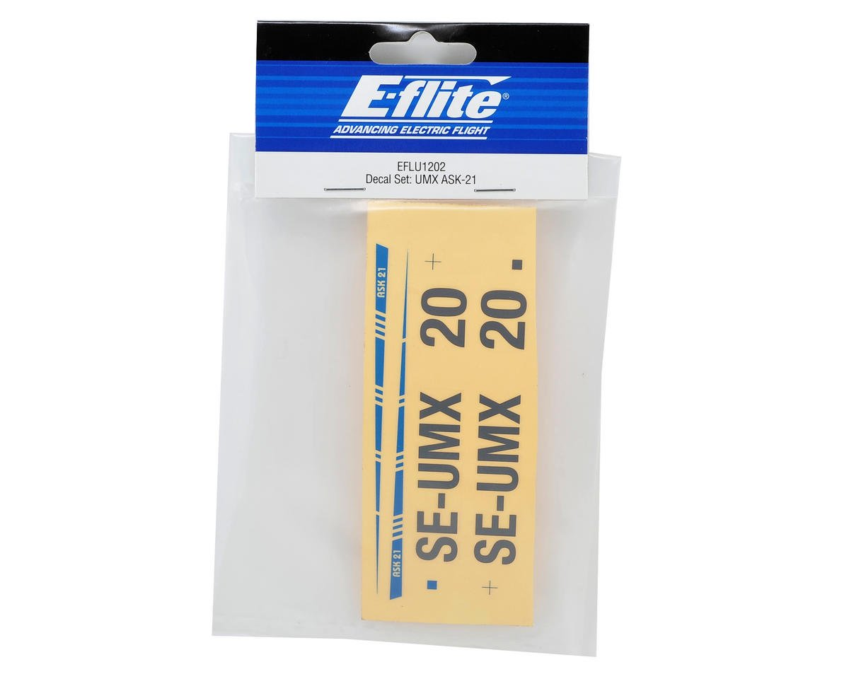 E-flite UMX ASK-21 Decal Set