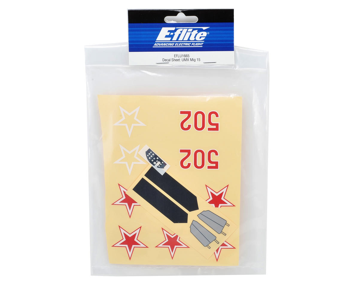 E-flite Decal Sheet (UMX MiG 15)