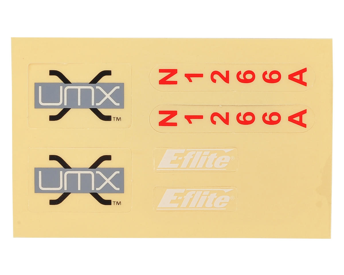 E-flite UMX Spacewalker Decal Sheet
