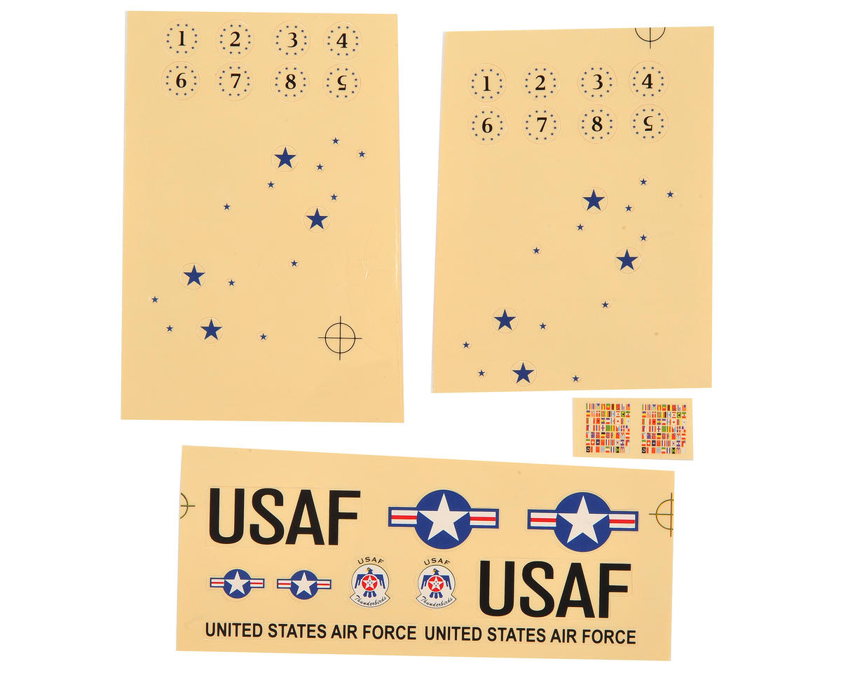 E-flite UMX F-16 Decal Sheet