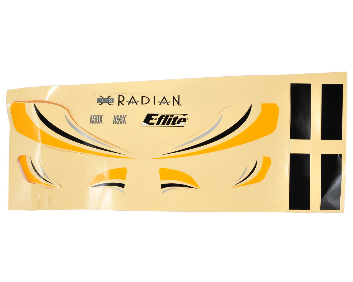 E-flite Ultra Micro Radian Decal Sheet