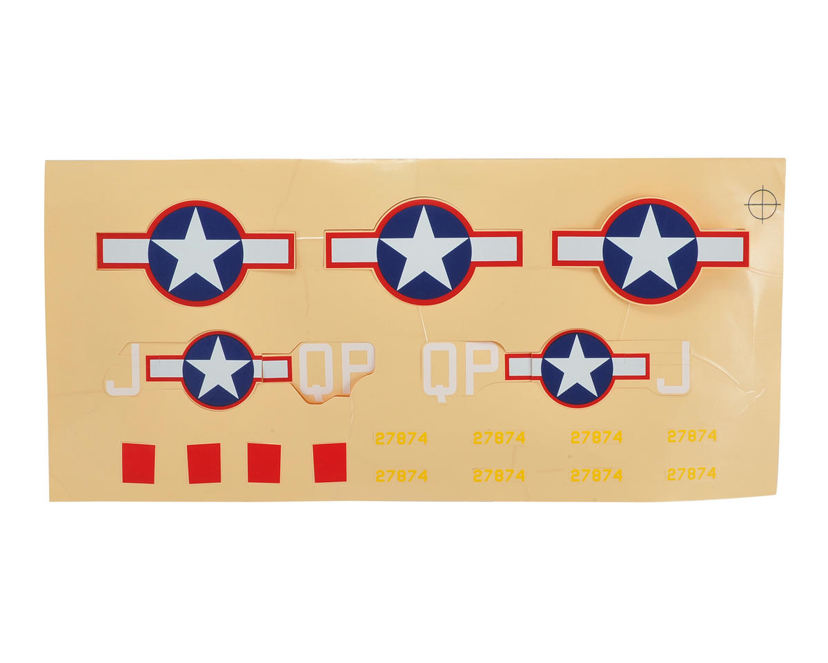 E-flite UMX P-47 Decal Sheet