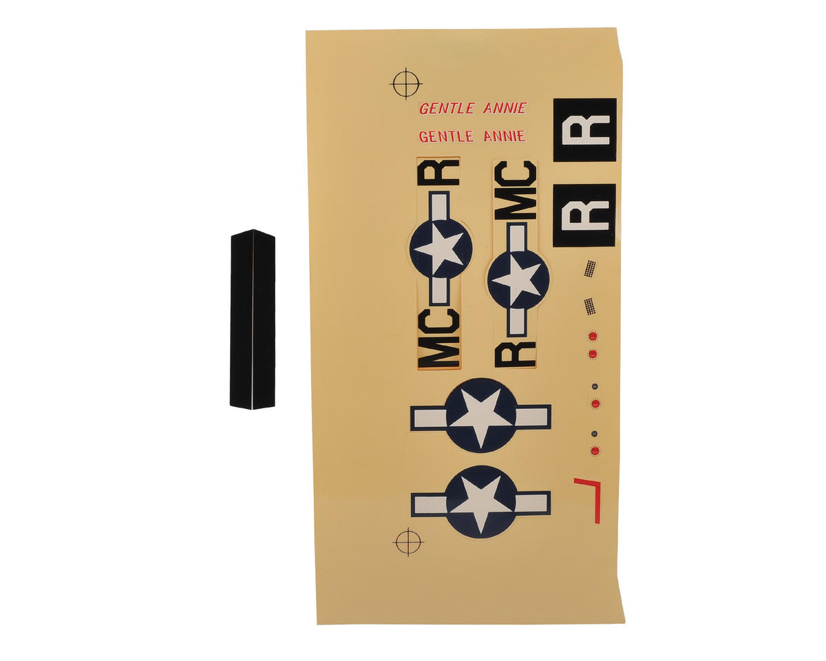 E-flite UMX P-51 BL Decal Sheet