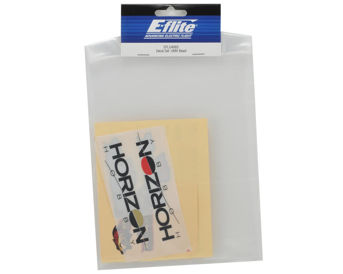 E-flite Decal Set (UMX Beast)