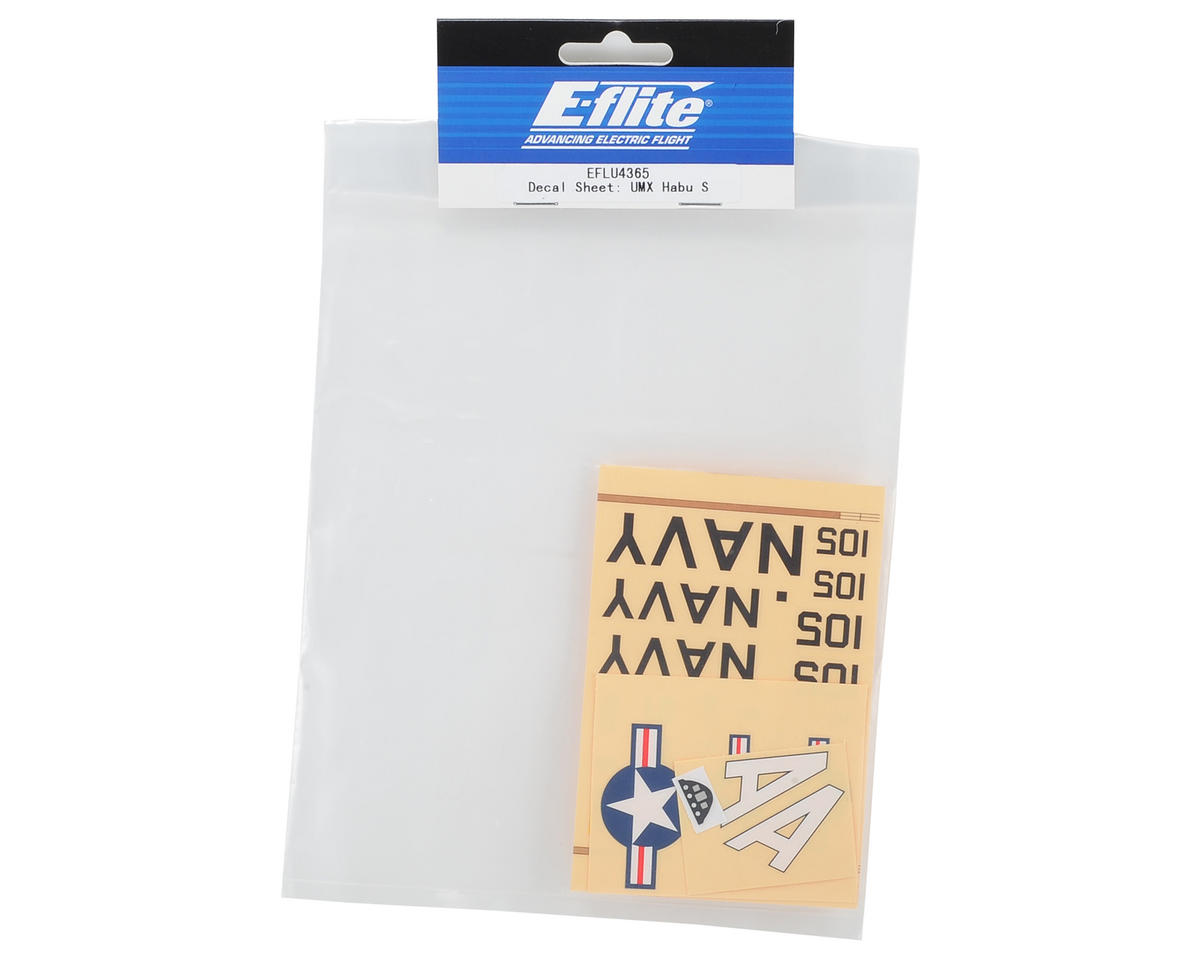 E-flite UMX Habu S Decal Sheet